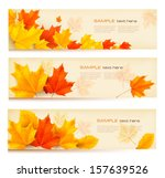 Three Autumn Banners With...