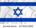 israel flag on the background... | Shutterstock . vector #1576413385