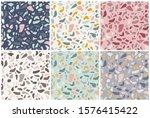set of six seamless patterns... | Shutterstock .eps vector #1576415422