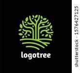 logo tree circle shape. symbol  ... | Shutterstock .eps vector #1576427125