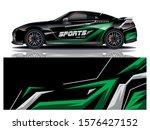sport car decal wrap design... | Shutterstock .eps vector #1576427152