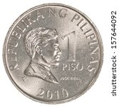 1 Philippine Peso Coin Isolate...