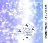 elegant christmas background... | Shutterstock .eps vector #157646525