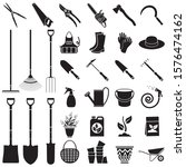 Set Of Icons Garden Tools....