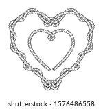 black and white rope heart... | Shutterstock .eps vector #1576486558