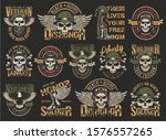 vintage colorful military... | Shutterstock . vector #1576557265
