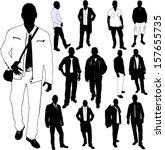 fashion men collection   vector | Shutterstock .eps vector #157655735