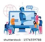 science teacher bot. education... | Shutterstock .eps vector #1576559788