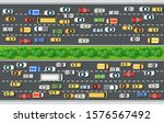 road top view with highways... | Shutterstock .eps vector #1576567492
