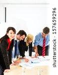 business   four professionals... | Shutterstock . vector #157659296