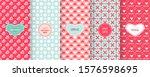 love heart patterns. set of... | Shutterstock .eps vector #1576598695
