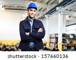 portrait of an engineer at work | Shutterstock . vector #157660136