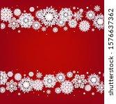 christmas border with white...   Shutterstock .eps vector #1576637362