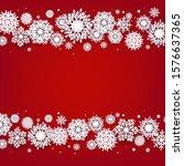 christmas border with white...   Shutterstock . vector #1576637365