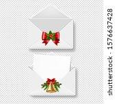 merry christmas envelope set...   Shutterstock . vector #1576637428