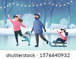 happy cartoon characters ... | Shutterstock .eps vector #1576640932