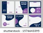 set of modern promotion square... | Shutterstock .eps vector #1576643395