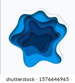 3d abstract blue wave...   Shutterstock .eps vector #1576646965