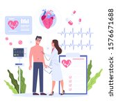 cardiology concept. idea of... | Shutterstock .eps vector #1576671688