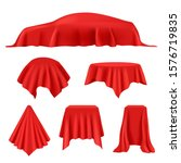 red silk covered. revealer... | Shutterstock .eps vector #1576719835