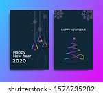 happy new year 2020 design with ... | Shutterstock .eps vector #1576735282