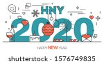 2020 happy new year greeting... | Shutterstock .eps vector #1576749835