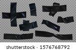 black duct tape set. insulating ... | Shutterstock .eps vector #1576768792