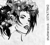 art monochrome sketched... | Shutterstock . vector #157677842