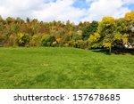 colorful autumn landscape on a... | Shutterstock . vector #157678685