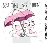 White Bear Holding Pink...