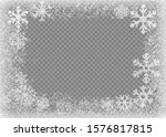 snow frame. frozen window.... | Shutterstock .eps vector #1576817815