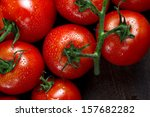Fresh Red Tomatoes On A Branch