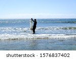 African Fisherman In Shallow...