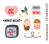 beautiful love stickers for... | Shutterstock .eps vector #1576844215