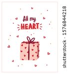 greeting card for valentine's... | Shutterstock .eps vector #1576844218