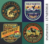 wild north wildlife vintage... | Shutterstock .eps vector #1576850818