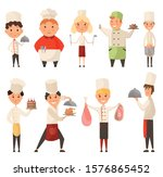 collection of different cook... | Shutterstock .eps vector #1576865452