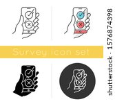 online survey icon. checklist... | Shutterstock .eps vector #1576874398