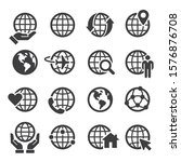 global communication icon set ... | Shutterstock .eps vector #1576876708