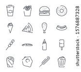 fast food set icon template... | Shutterstock .eps vector #1576887328