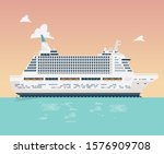 ocean cruise ship on vector... | Shutterstock .eps vector #1576909708