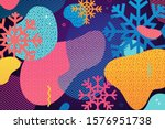 horizontal abstract geometric... | Shutterstock .eps vector #1576951738