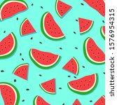 watermelon pattern for...   Shutterstock .eps vector #1576954315