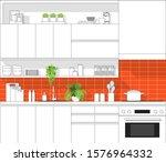 interior design with modern... | Shutterstock .eps vector #1576964332