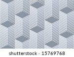 city pattern - stock vector