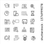 education line icon set vector... | Shutterstock .eps vector #1576999078