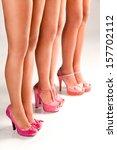 long slim beautiful female feet ...   Shutterstock . vector #157702112