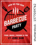 lovely vector barbecue party... | Shutterstock .eps vector #1577059762