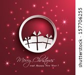 paper ornament gift box... | Shutterstock .eps vector #157706255