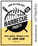 lovely vector barbecue party... | Shutterstock .eps vector #1577062912